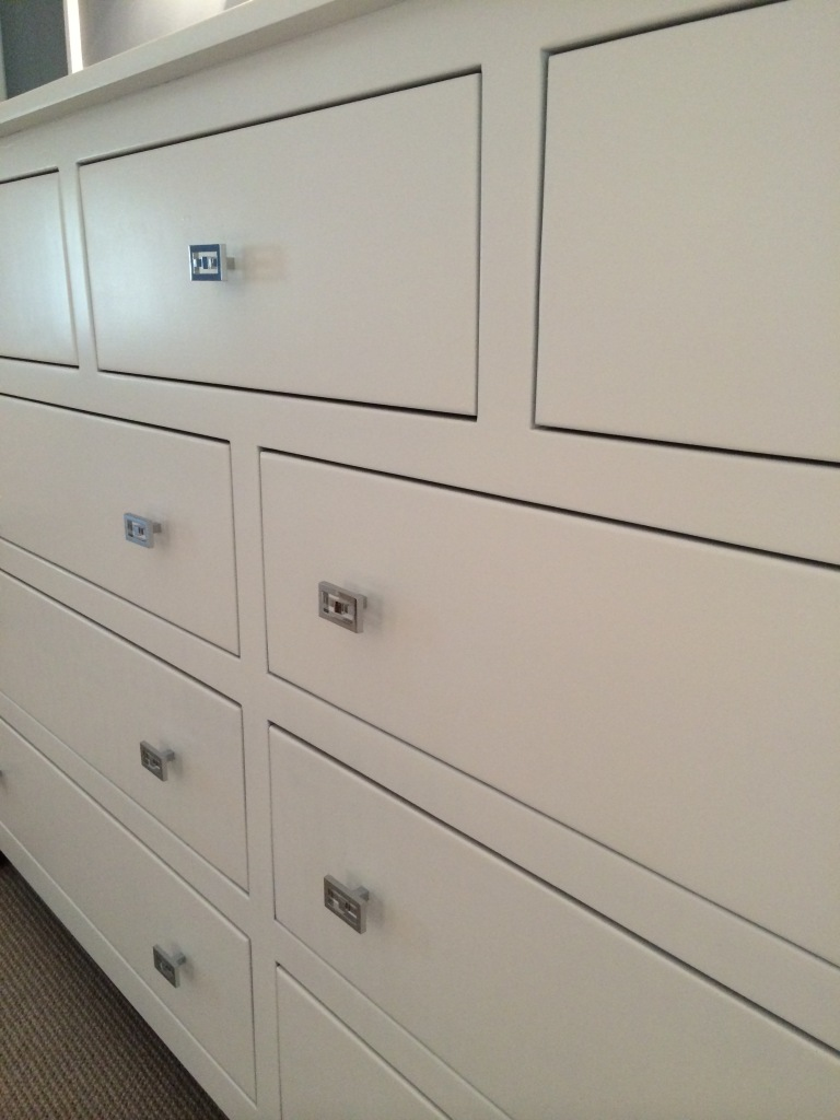 white dresser close-up